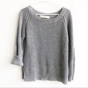 Zara | Knit Silver Detail Elbow Patch Sweater